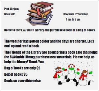12-3 Port Allegany Library Book Sale