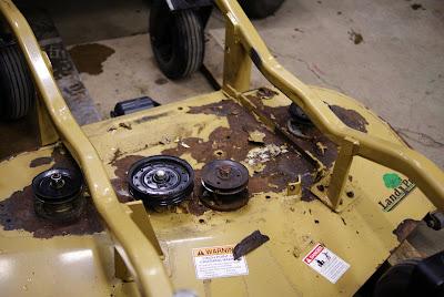 Rusty LandPride rotary deck