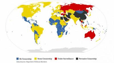 Mapa de la censura de Internet en el Mundo