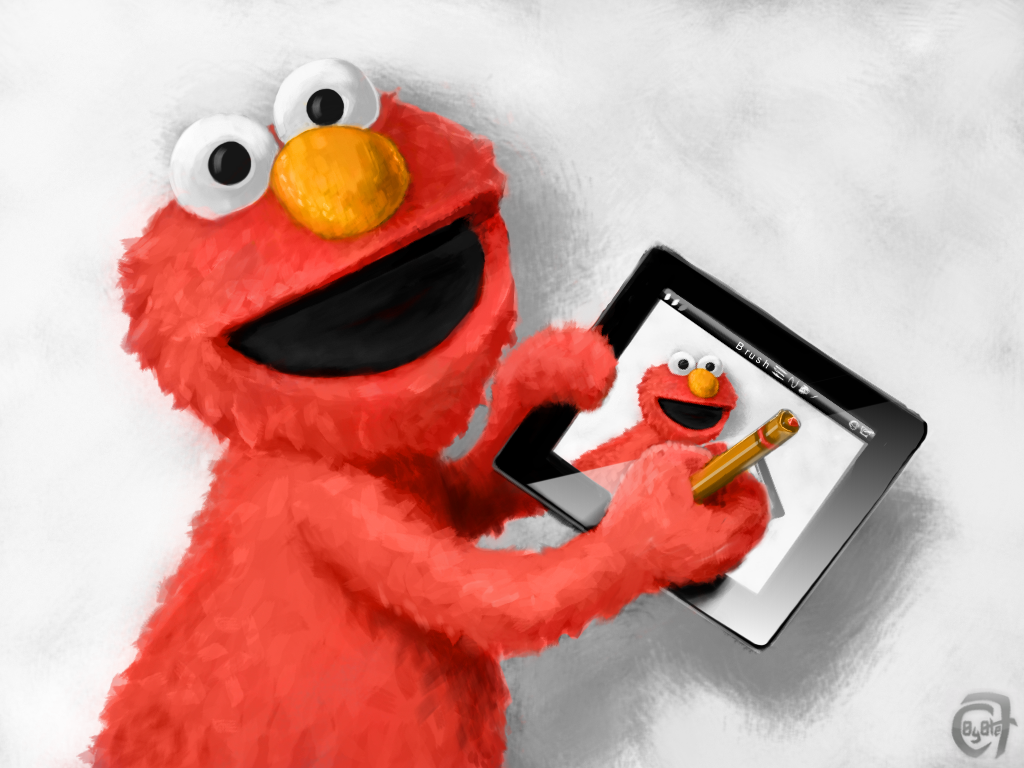 Elmo digital painting