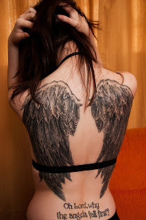 cute angel wing tattoos