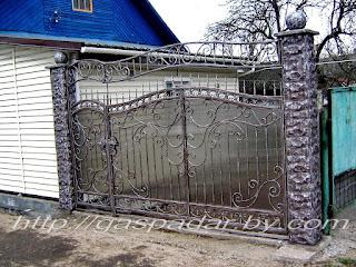 Кованный забор из поликарбоната. Фото 6