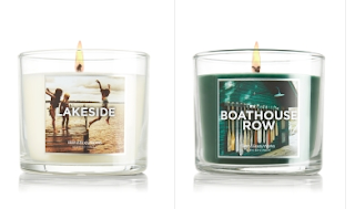 J'ai détesté les chandelles Lakeside et Boathouse row de Bath & BodyWorks