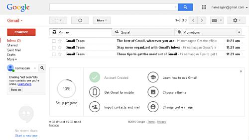 Halaman Gmail