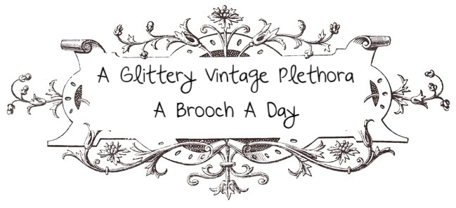 A Glittery Vintage Plethora-A Brooch a Day