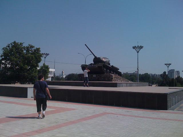 Tanque Transnistria, plaza principal