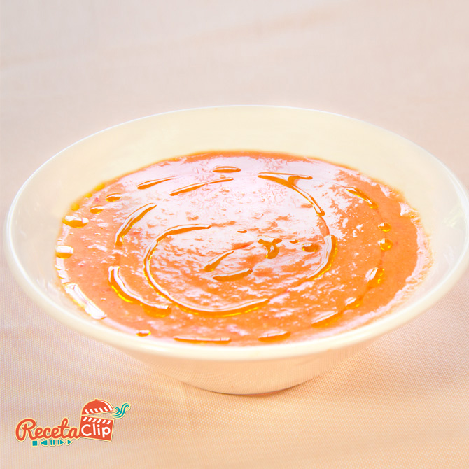 receta, gazpacho, tomate, sopa, cocina, recetaclip,