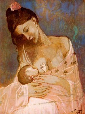 بابلو بيكاسو  (Pablo PicaSso •• (1881-1973  Peinture-pablo-picasso-maternite-img