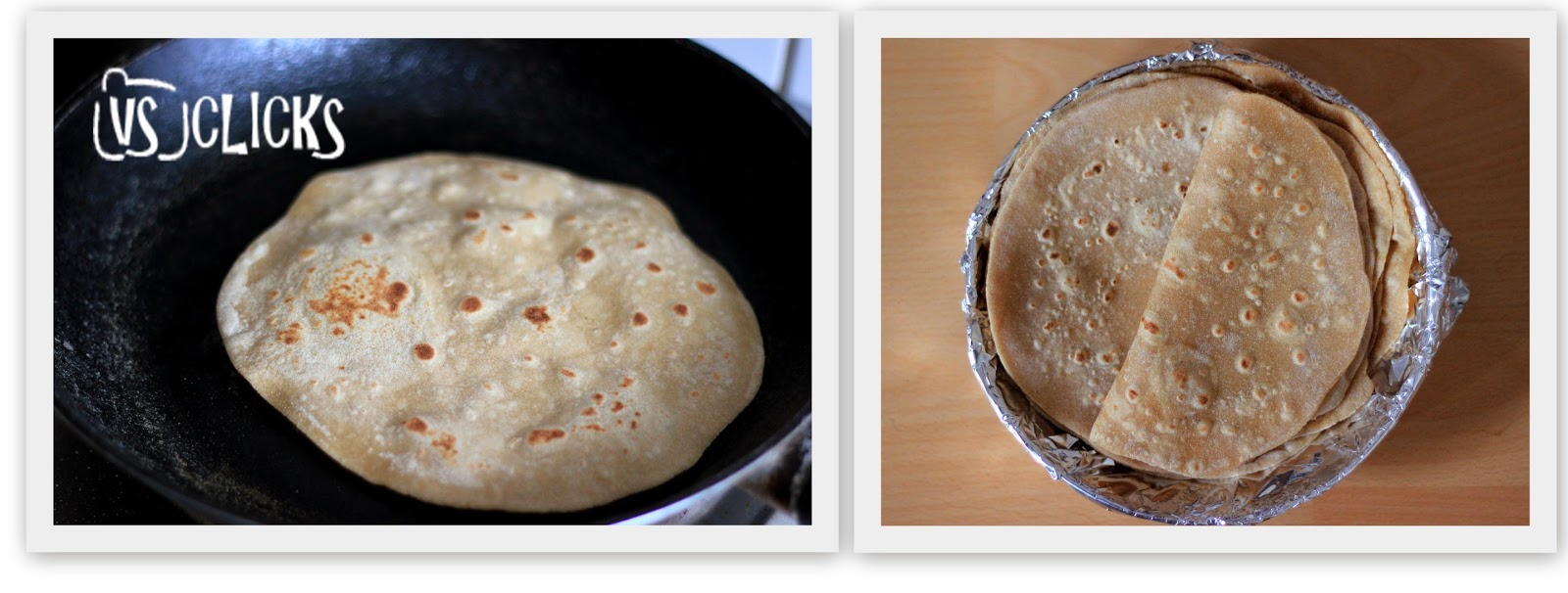 Chapathi Indian Flatbread Instructions