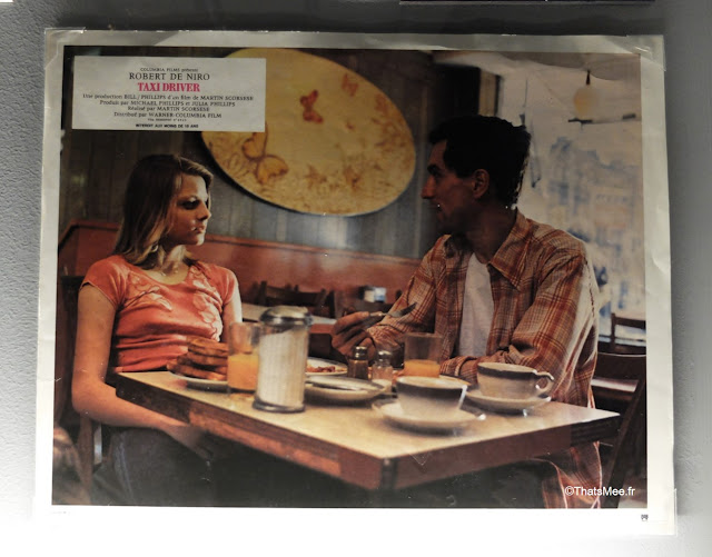 plan taxi driver jodie foster robert de niro café, expo scorsese film cinematheque francaise paris bercy