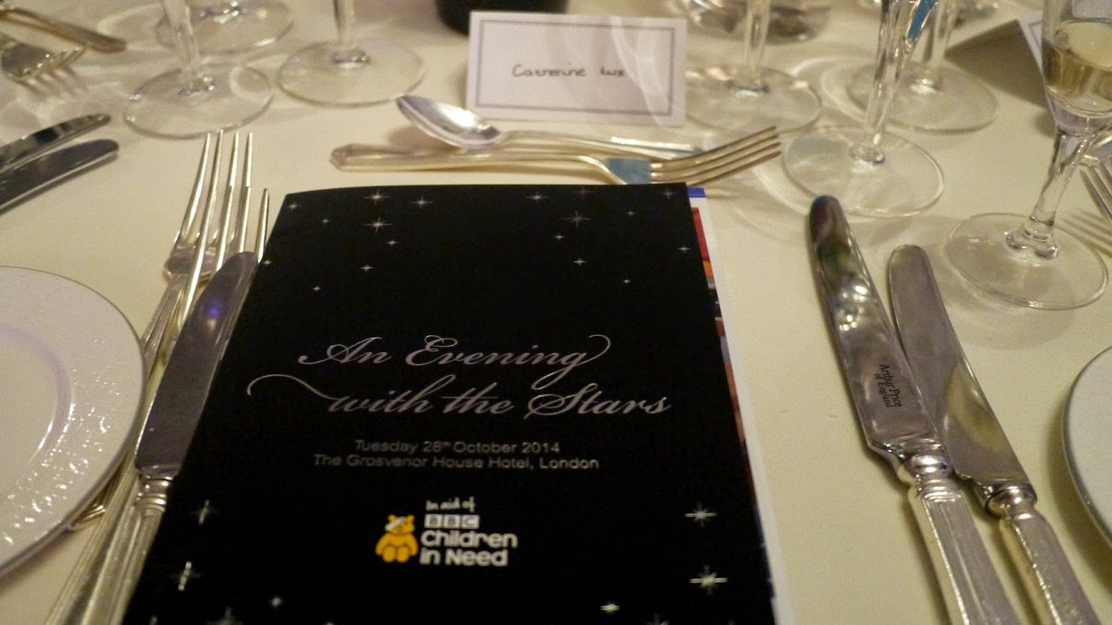 Children in Need An Evening with the Stars gala dinner