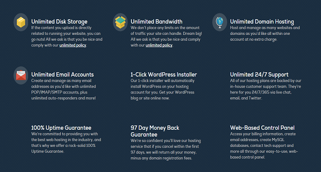 list of dreamhost hosting features