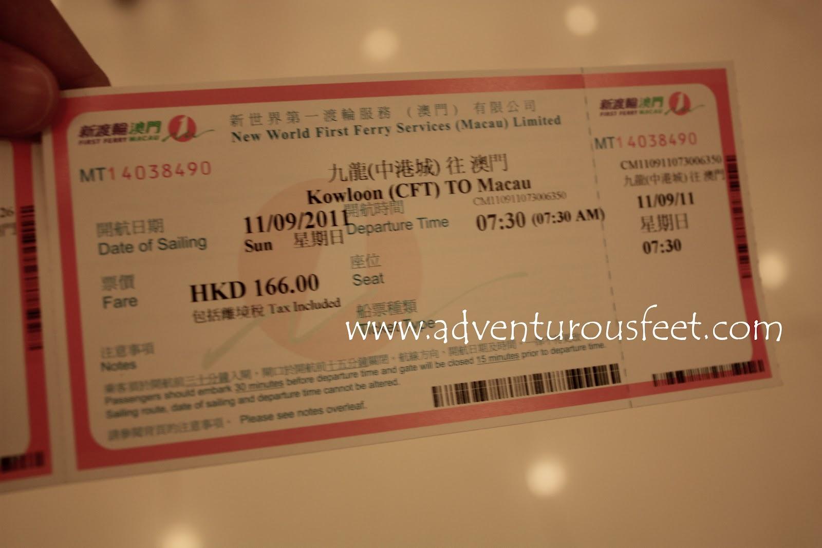 Adventurous Feet Part 7 Hong Kong Macau Trip Day 3 Tiket Cotaijet Ferry Round Hongkong Travel Guide Getting To