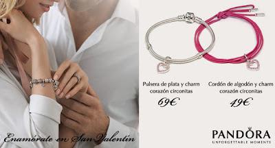 Promoción Pandora San Valentín. Joyería Serrano