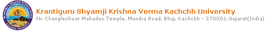 Krantiguru Shyamji Krishna Verma Kachchh University Time Tables of March-April 2012 Examinations