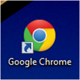 icono de escritorio de google chrome