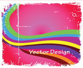 grunge Colorful Vector in pink Background grunge Colorful Vector in pink Background