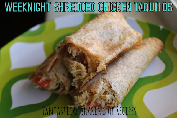 "Weeknight Shredded Chicken Taquitos | Featuring ""The Picky Palate Cookbook"" for April's Pass the Cook Book Club"