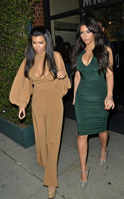 "Sisterly Love: Kourtney And Kim K Visit ""Leno""……"