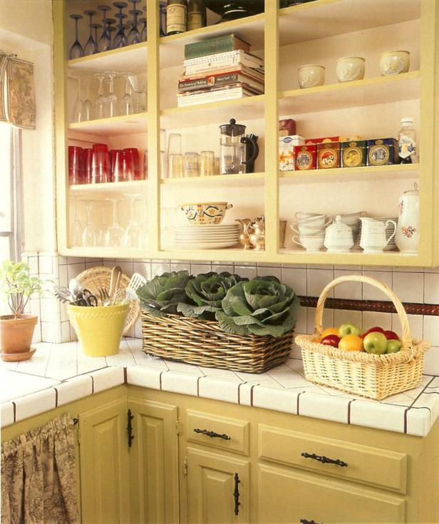 Country Open Kitchen Cabinets