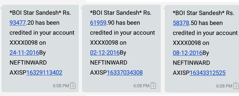 Promotional Income(Weekly) SMS BANK PROOF