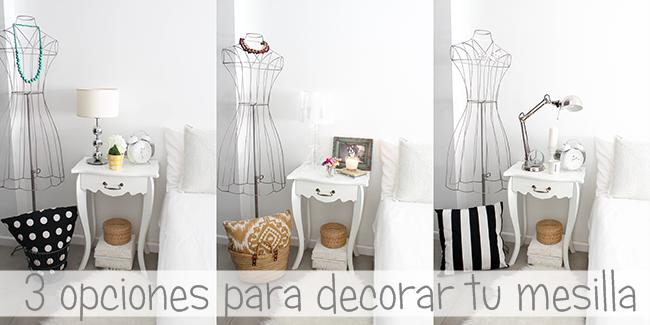 3 opciones para decorar tu mesilla decoracion for Decoracion mesitas de noche