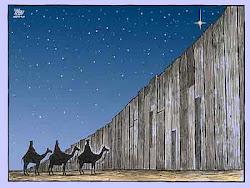 cada año una lágrima  derramada en un muro de cartón detiene a los reyes