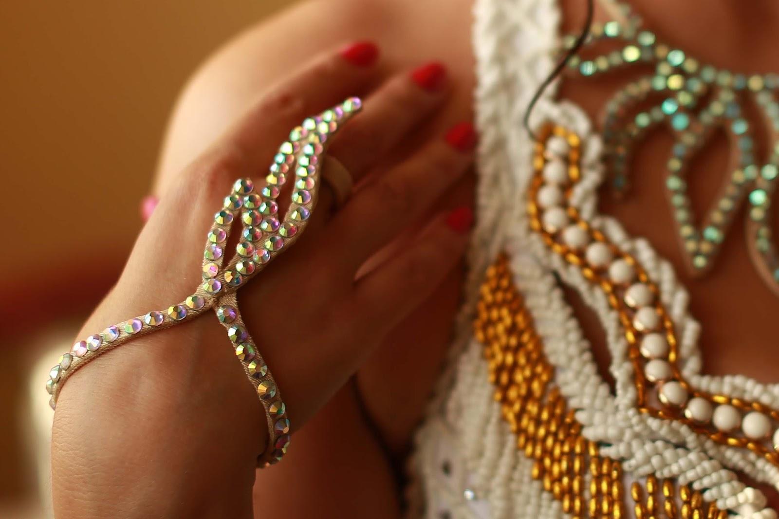 Как сделать украшение на руку для восточных танцев