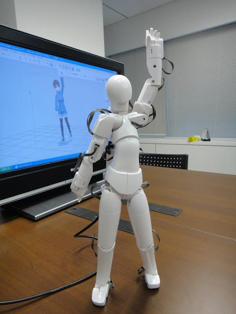 Qumarion parado, mannequin Japonés para manipulación de personajes en 3D