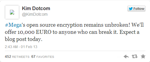 Kim Dotcom tweets