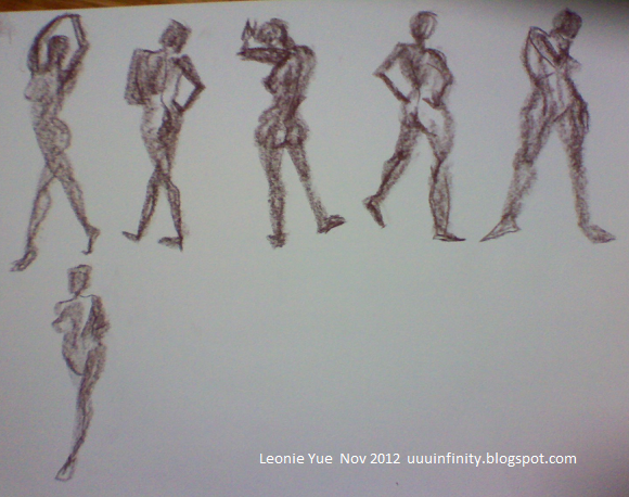 Leonie yue s art adventuuures life drawing session 3 female