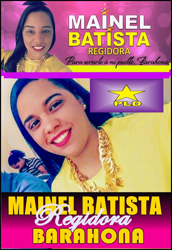 MAINEL BATISTA-Regidora PLD Barahona 2020-2024