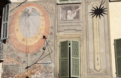 Sundial 2 on Via Meridiana - Noon Sundial (On the Right)