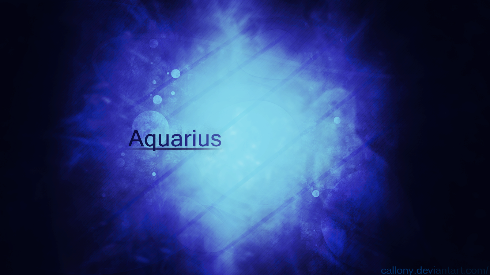 Aquarius on a blue background