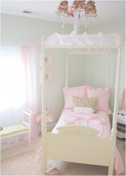 Girly girl vintage style bedrooms room design ideas - Chic and stylish pink bedroom design ideas for all time girly look ...