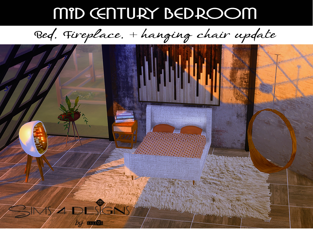 My Sims 4 Blog Mid Century Bedroom Set By Daer0n