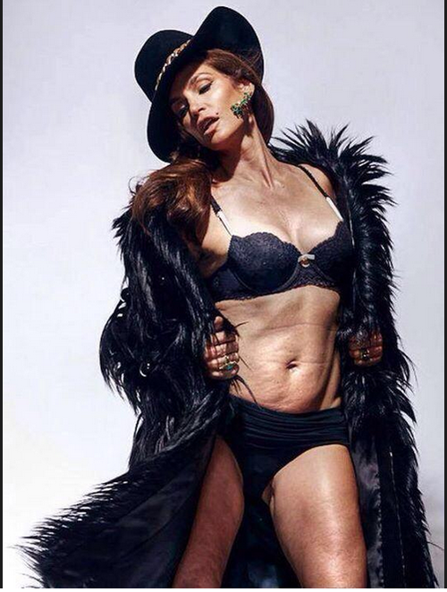 cindy crawford, unretouched, marie claire, ryan gosling,
