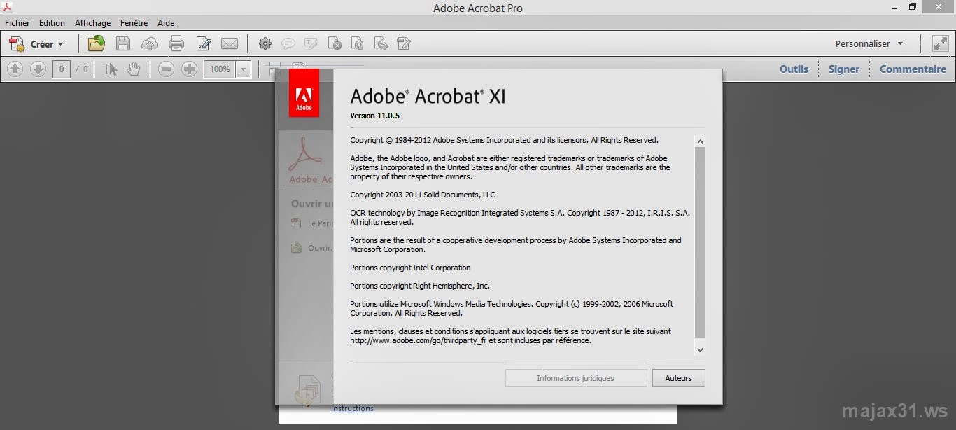 Adobe Acrobat XI Pro 11.0.05 Inclus Patch (Software)