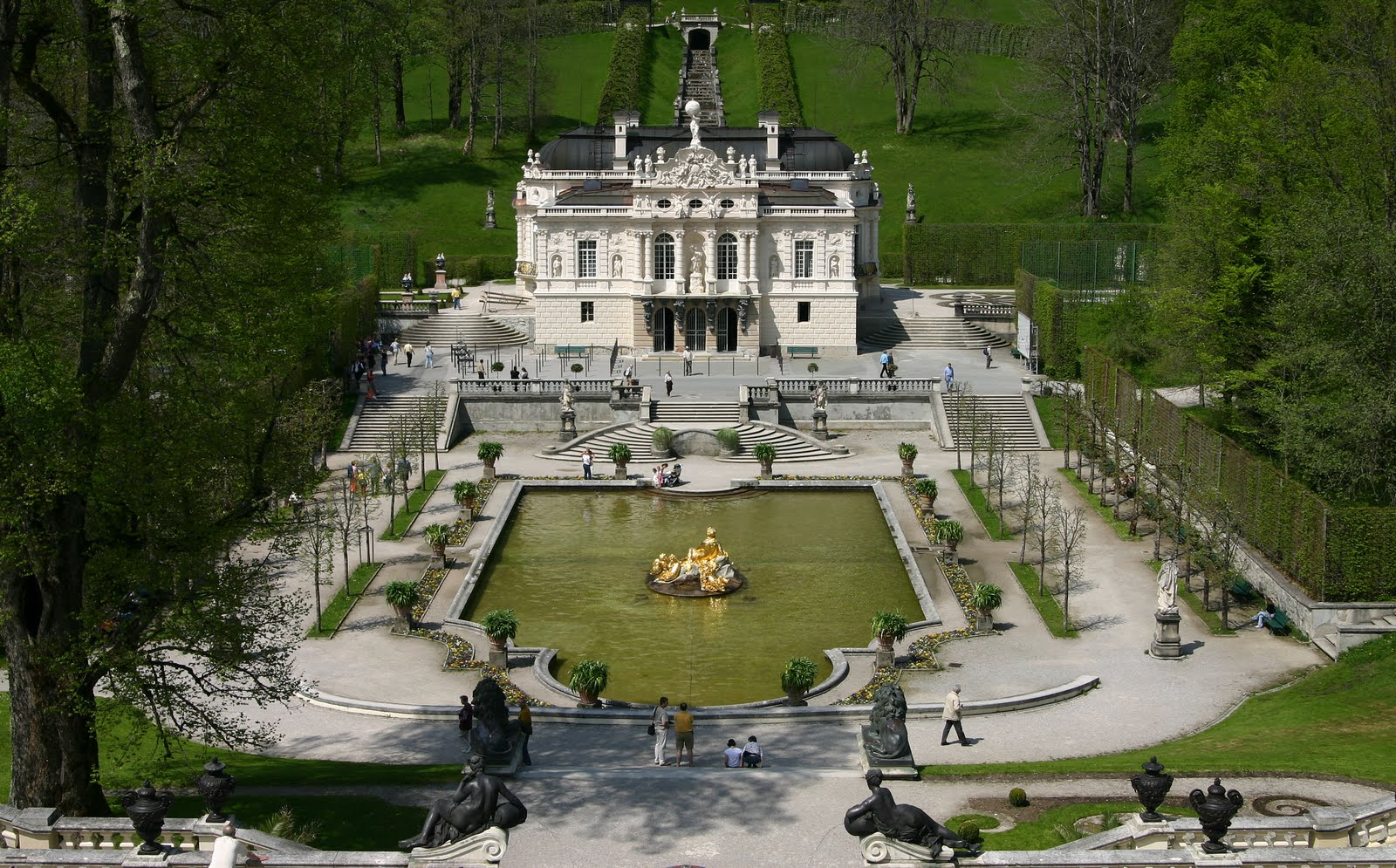 Reichenschwand Germany  City pictures : Castle Linderhof: a French style with gardens