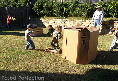 Posed Perfection: Nerf War Birthday Party for Boys