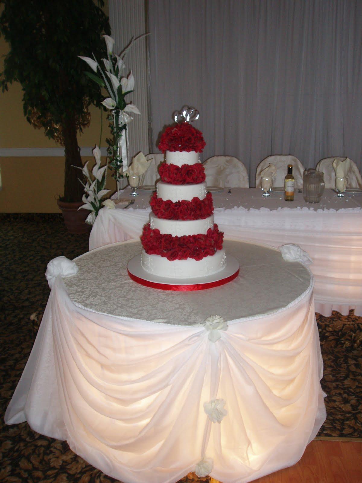 SugarBakers Cake Design: Red Roses wedding cake