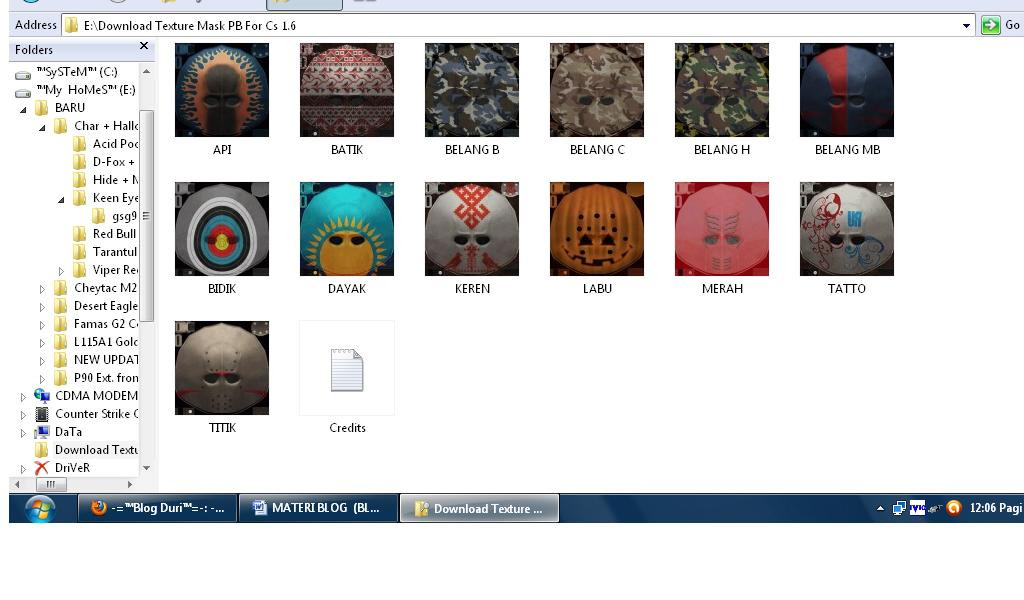 Download Texture Mask For Counter Strike Point Blank