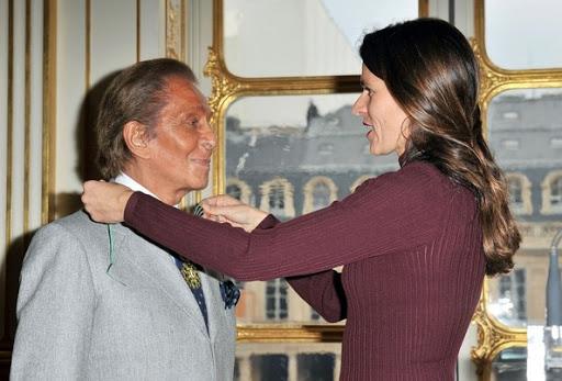 Valentino y Aurélie Filippetti