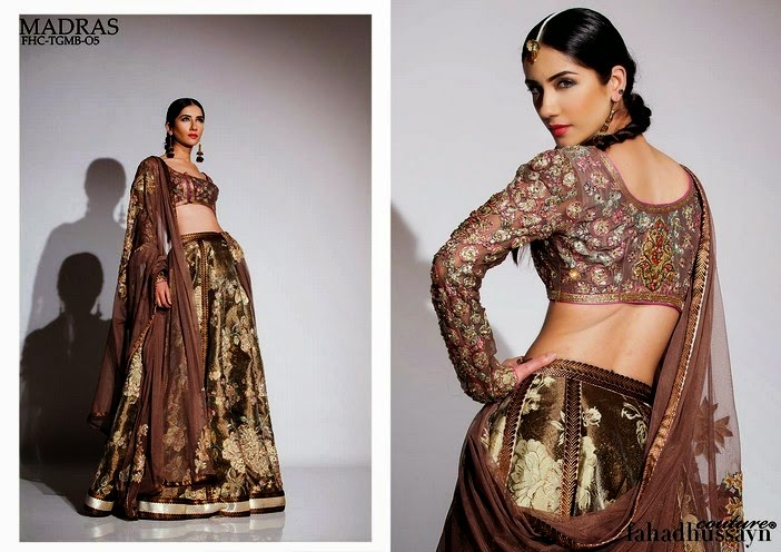 Madras Lehenga with Short Choli Blouse