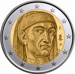 2 Euro Commemorative Coins Italy 2013, Giovanni Boccaccio