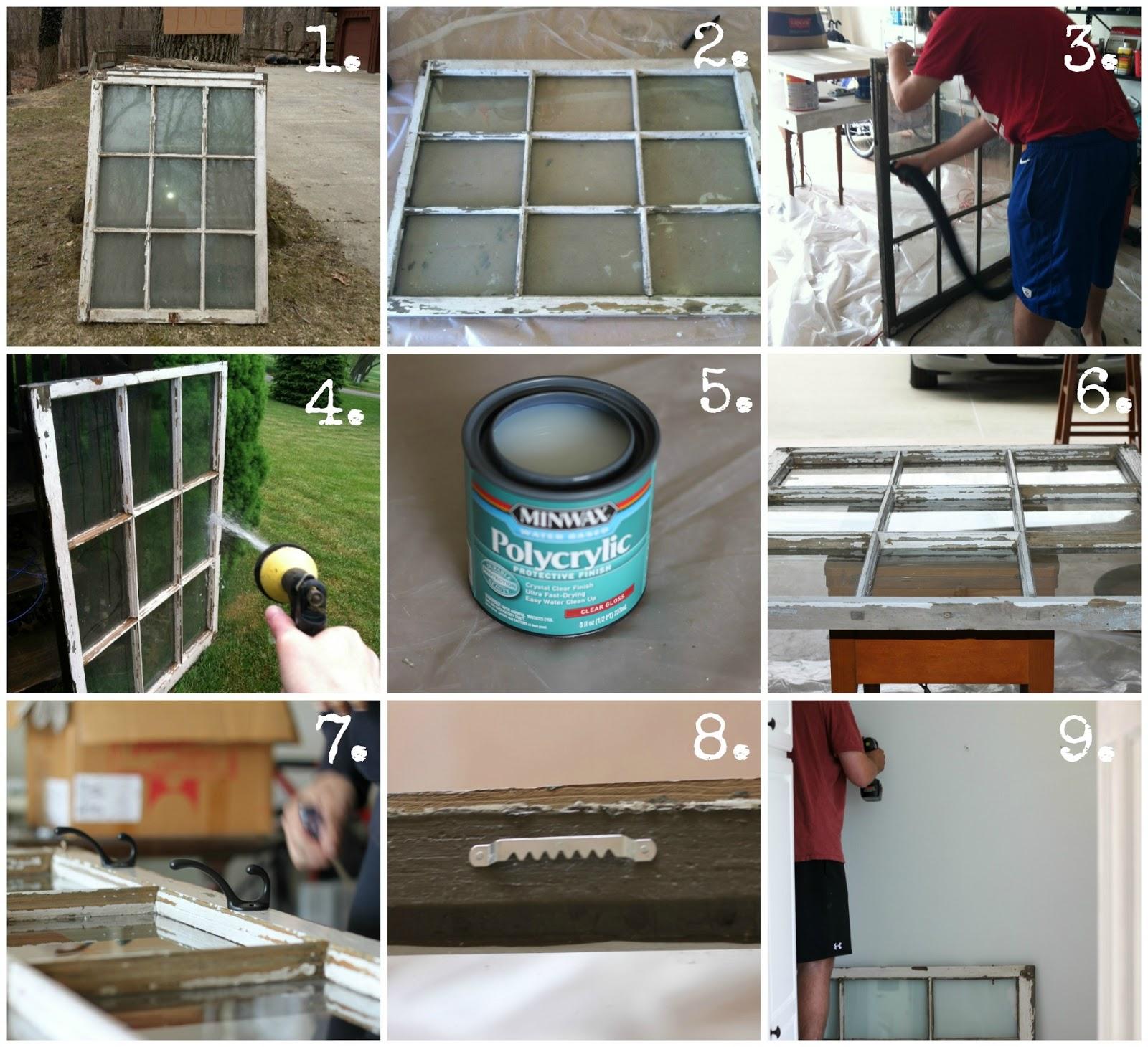 Repurposed Window Bathroom Towel Rack - House by Hoff