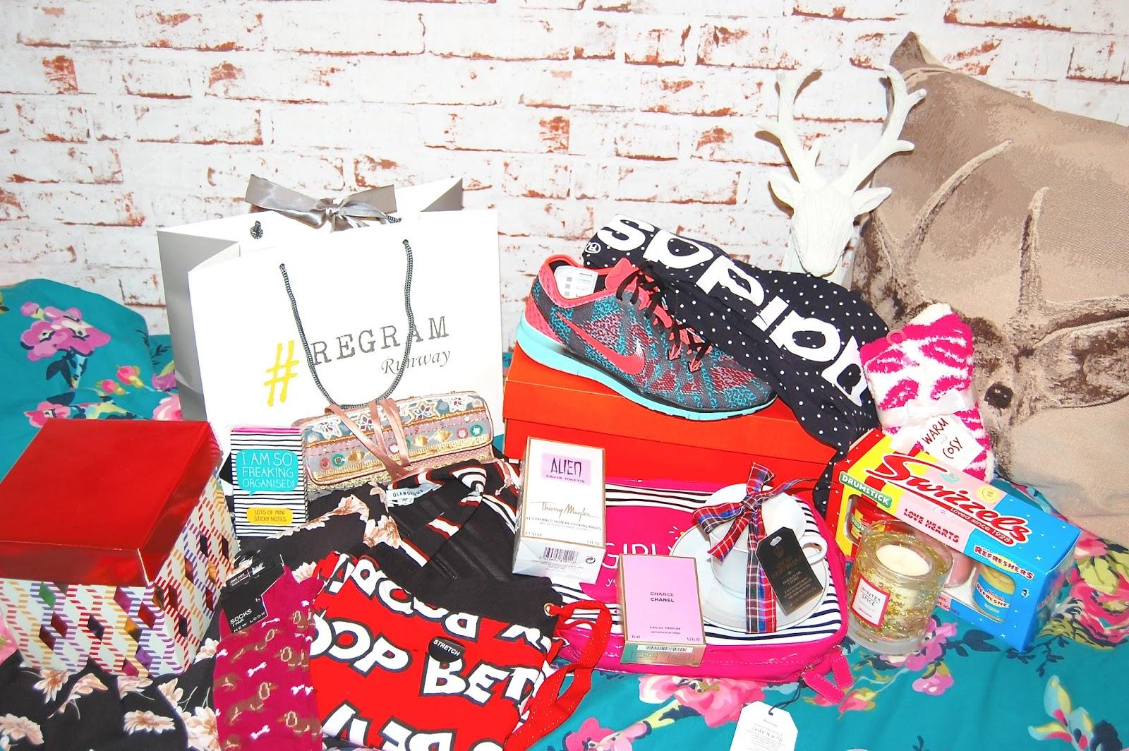 Christmas Presents, Regram Runway, Lush Cosmetics, Nike