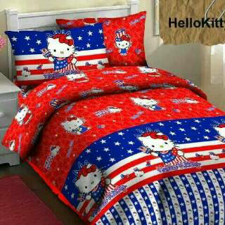 Jual Sprei Hello Kitty USA murah bahan fortun