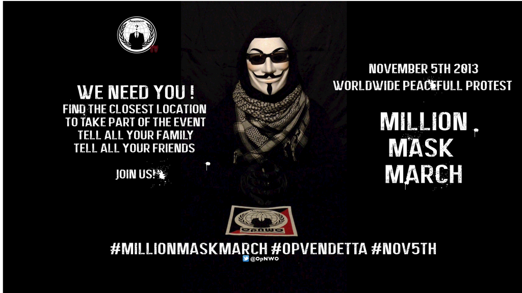 WORLDWIDE: Million Mask March