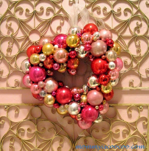valentine heart ornament wreath from mommy is coocoo